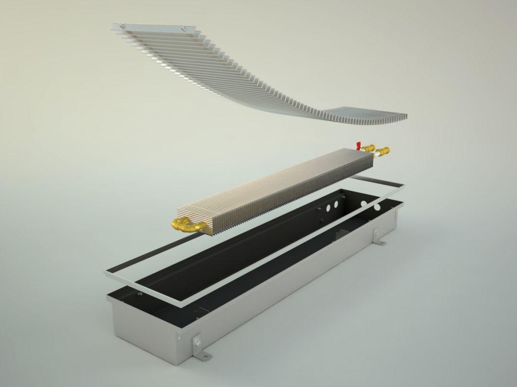 конвектор отопления в полу
