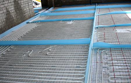 теплый пол водяной конструкция