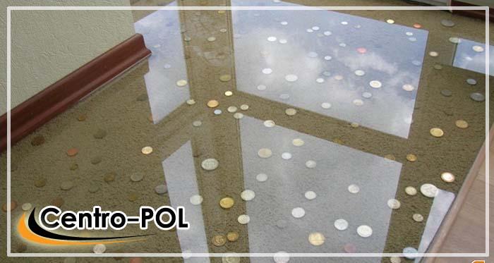 Прозрачные 3д полы своими руками с монетами