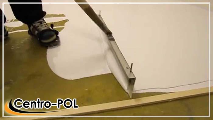 Укладка базового слоя на подготовленную поверхность