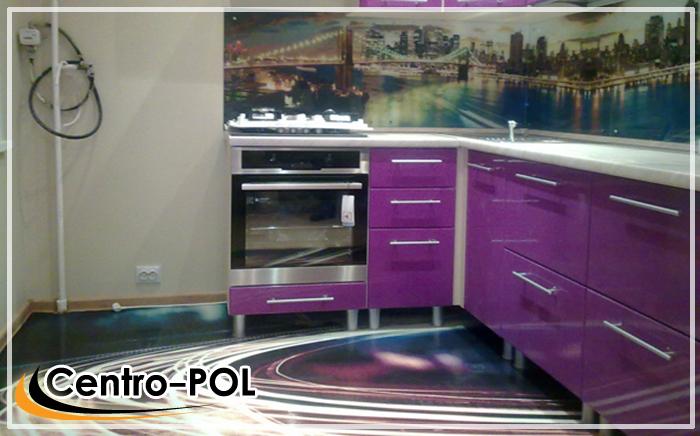 3d полы в кухне