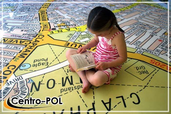 3д полы с картой местности для детской