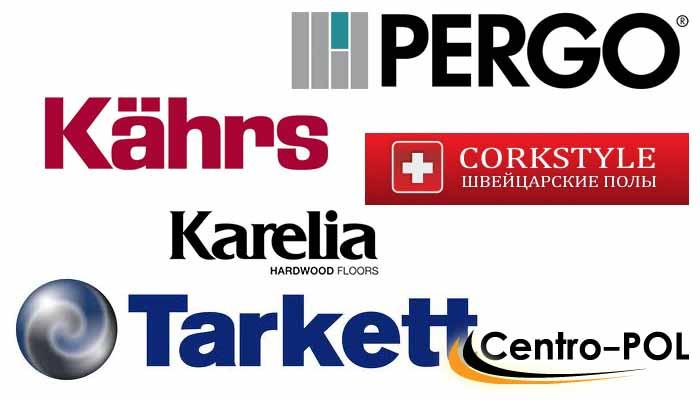 Логотипы наиболее популярных производителей покрытий