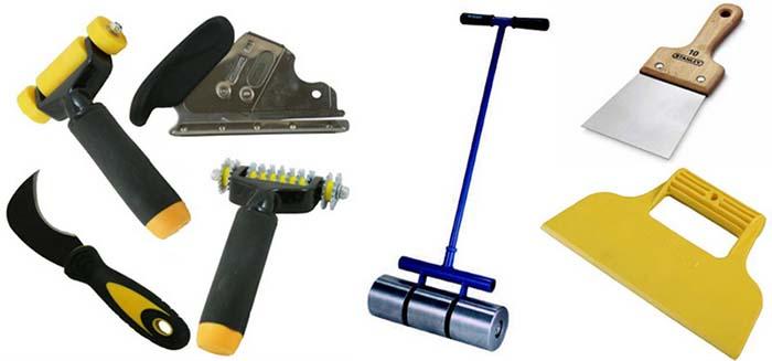 Набор инструментов для укладки линолеума