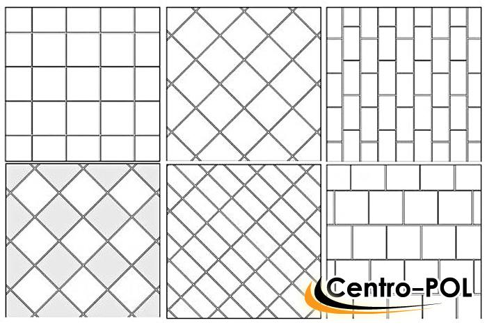 Схема самых распространённых вариантов раскладки плитки