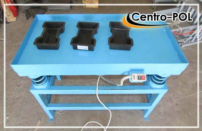 Стол для изготовления плитки вибролитьевым способом