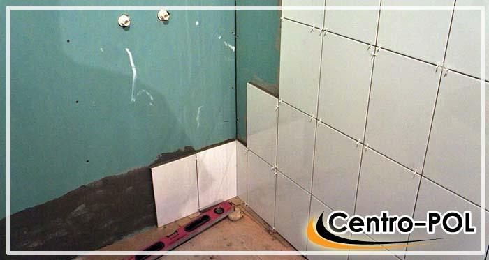 Монтаж настенной плитки на поверхность влагостойкого гипсокартона
