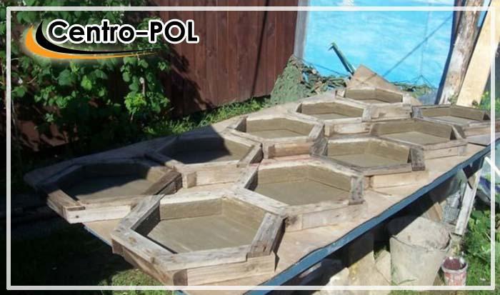 Пример деревянных форм для плитки