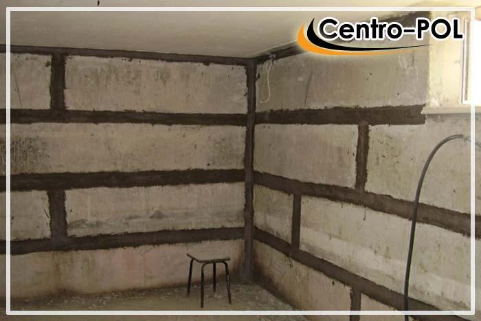 Заделка швов в подвале на блочном фундаменте