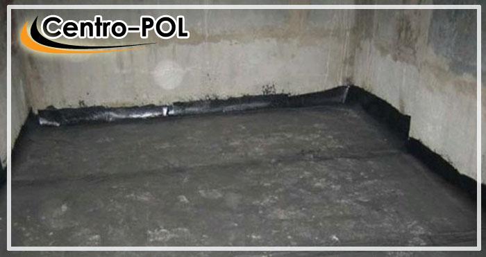 Укладка рулонной гидроизоляции на пол в подвале