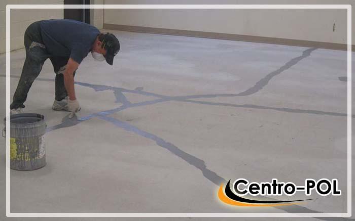 Заделка трещин бетонного основания