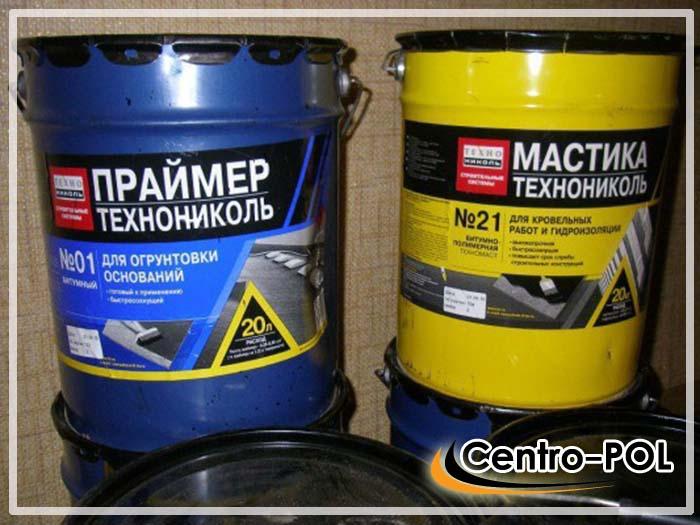 Праймер и мастика для нанесения обмазочной гидроизоляции