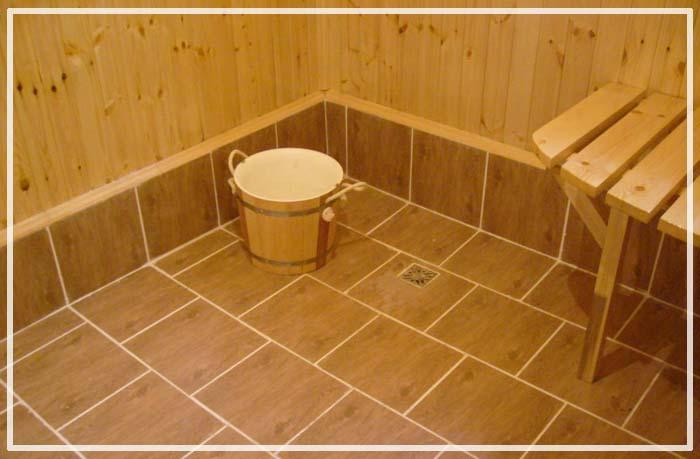 Из чего лучше сделать пол в бане