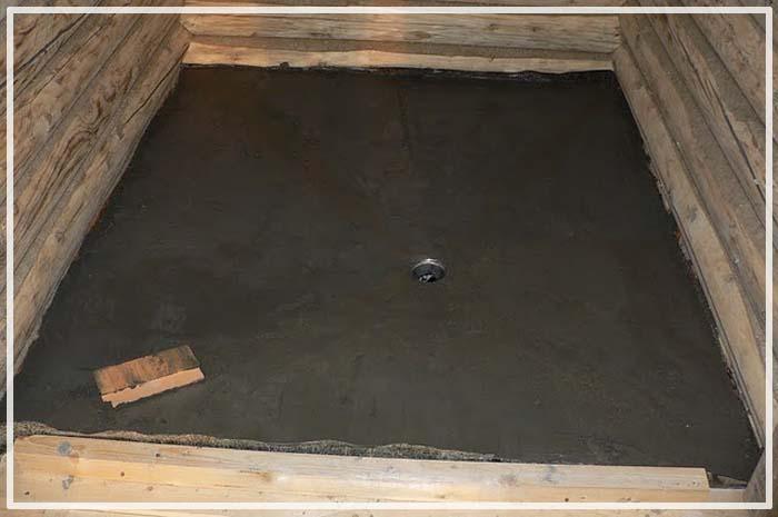 пол в каркасной бане на сваях
