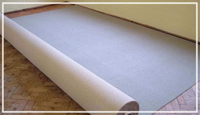 как постелить ковролин на линолеум
