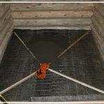 пол в бане из бетона