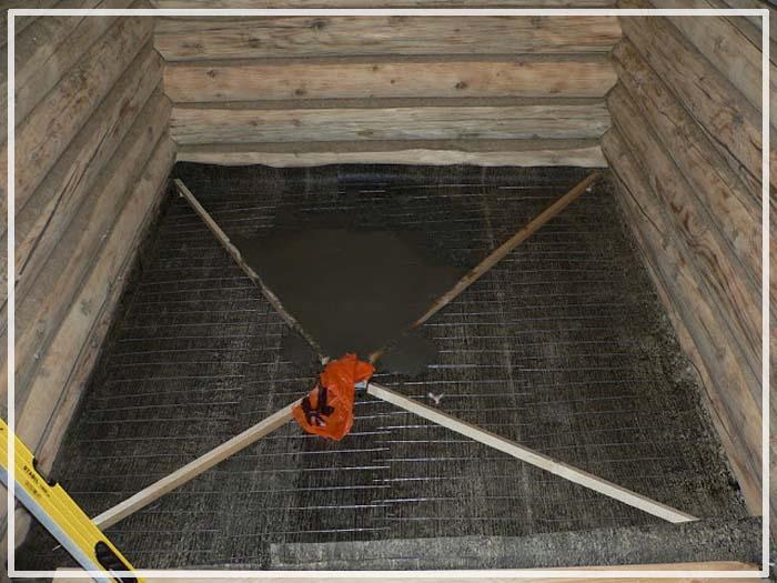 Заливка пола в бане: как залить с уклоном под слив наливной пол, как правильно сделать под теплый пол своими руками