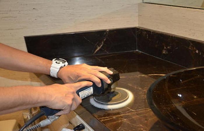 полировка мрамора после укладки