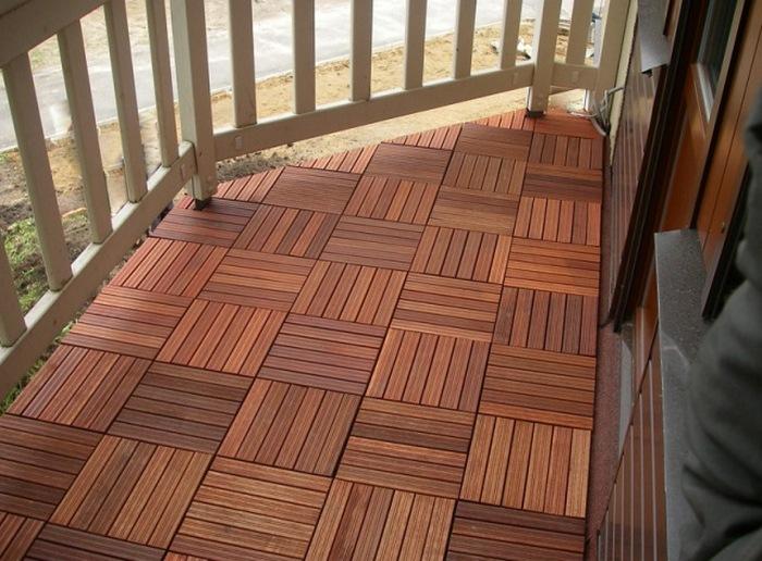 как поднять пол на балконе
