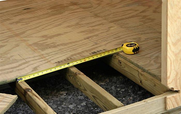 как укрепить лаги пола в деревянном доме