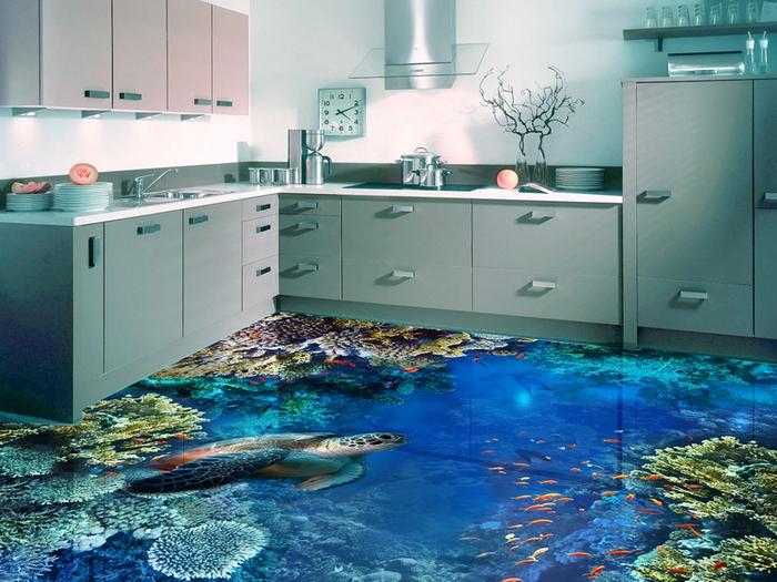 наливной пол на кухне отзывы
