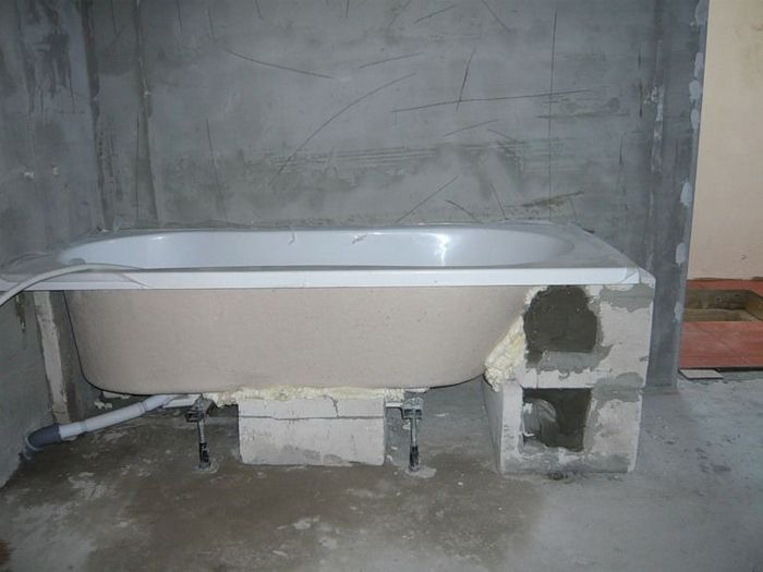 уровень пола в ванной снип