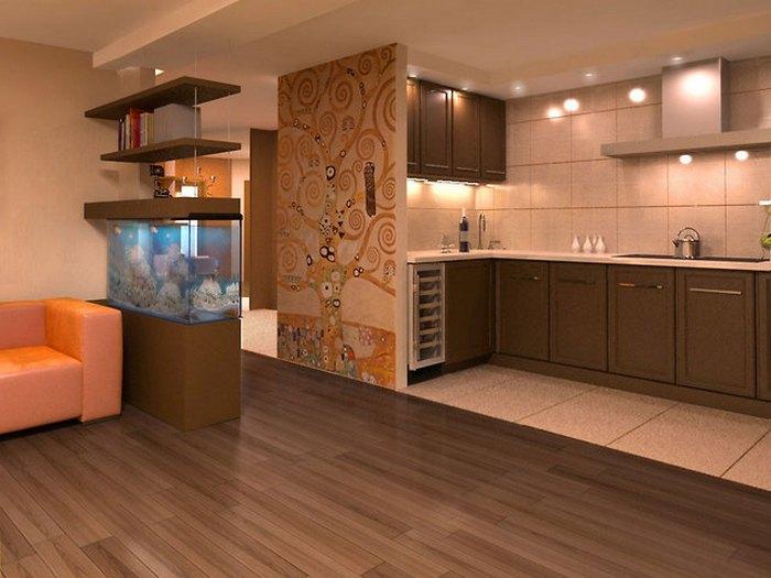 полы на кухни плитка ламинат дизайн