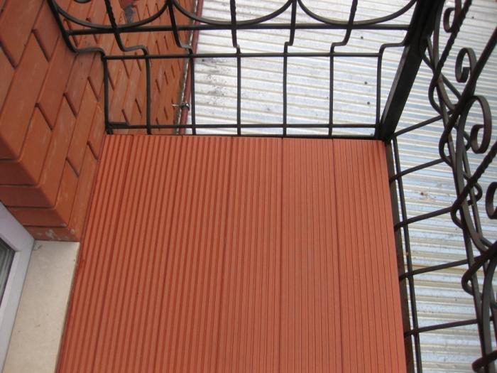 как сделать пол на балконе в деревянном доме от дождя