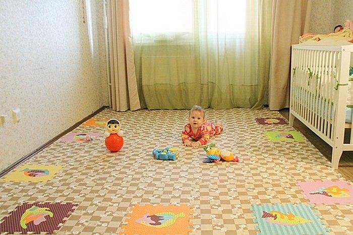 мягкий пол пазл для детских комнат