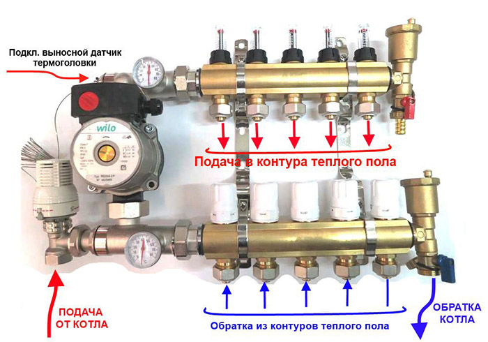 теплый пол водяной температура воды