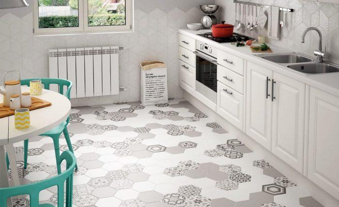 керамическая плитка для пола кухни