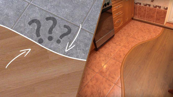 способы стыковки плитки и ламината