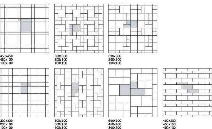 пример модульной раскладки плитки на полу