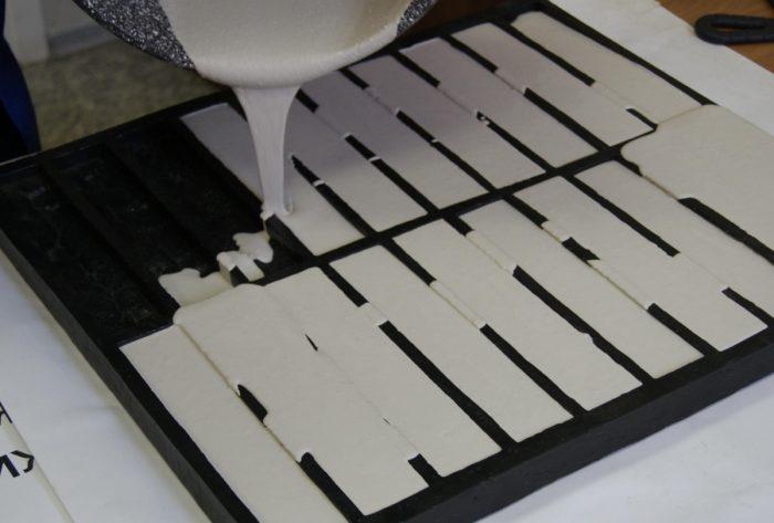 изготовление гипсовой декоративной плитки