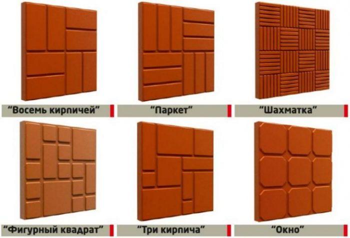 варианты рисунка полимерной плитки