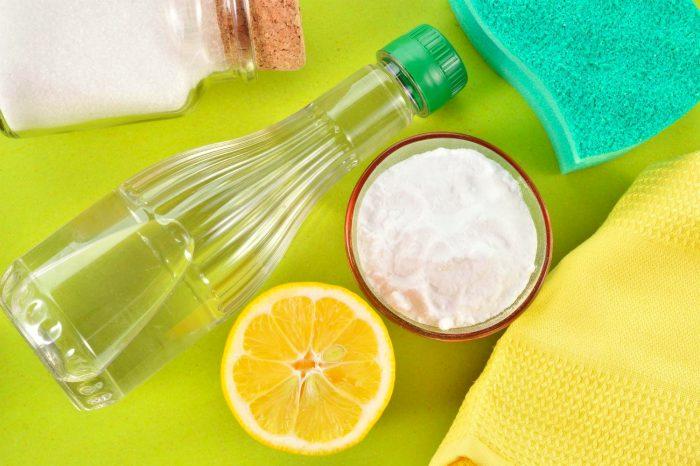 лимонный сок, сода, уксус