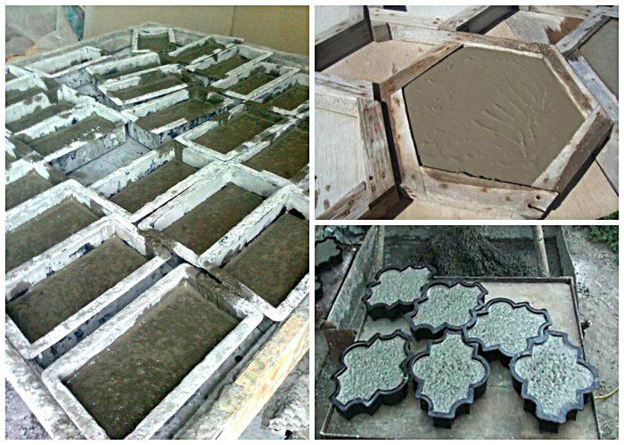 изготовление плитки с использованием цемента