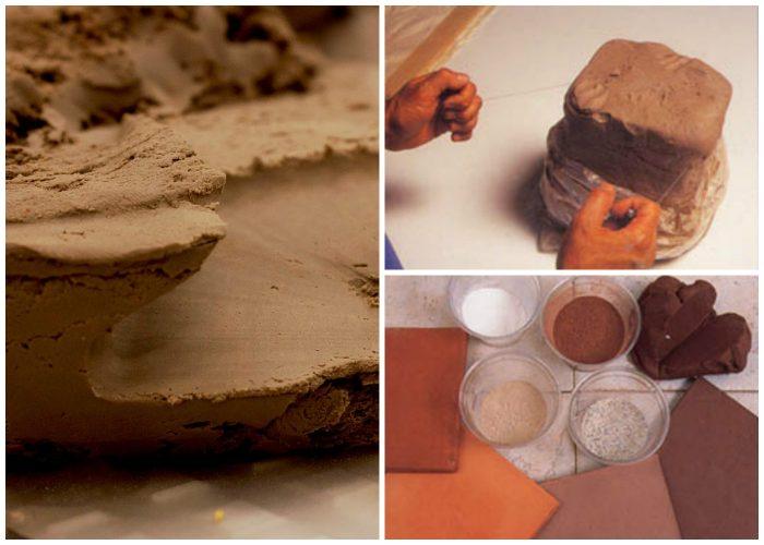 замешивание глины для плитки