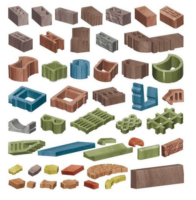 Основные элементы тротуарной плитки