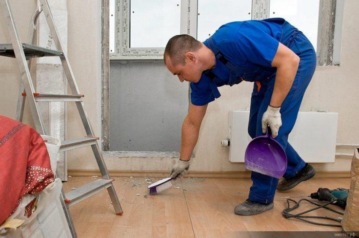уборка и чистка помещения