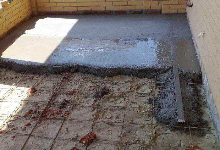 бетонная основа для пола