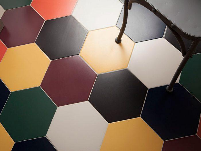 пример матовой шестиугольной плитки