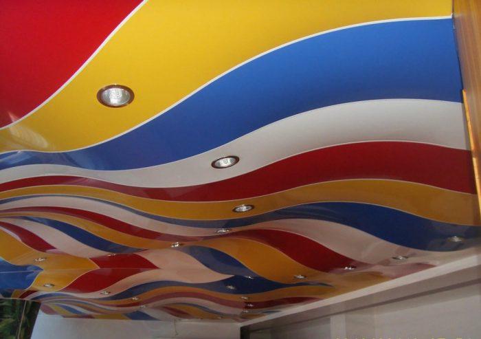 выбор цвета потолка