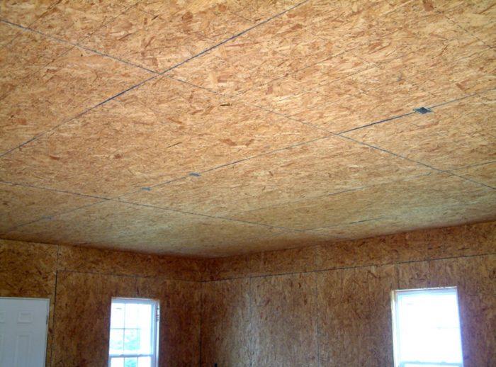 потолок из осб плит