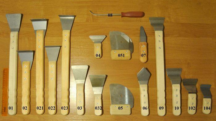 разновидности шпателей