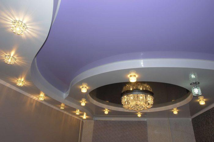 2-х уровневые натяжные потолки