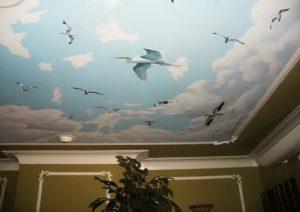 аэрография на потолке