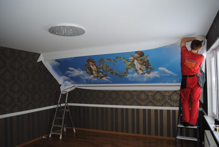 стоимость монтажа потолка