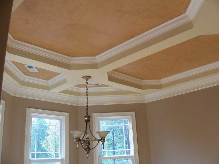 как покрасить тканевой потолок