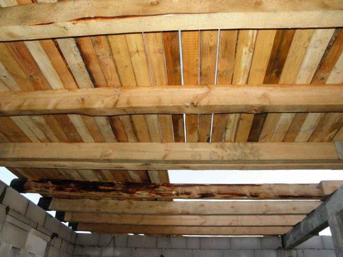 замена потолочных балок
